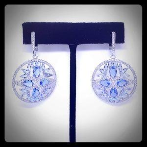 .925 Silver + Luxurious Tanzanite Earrings